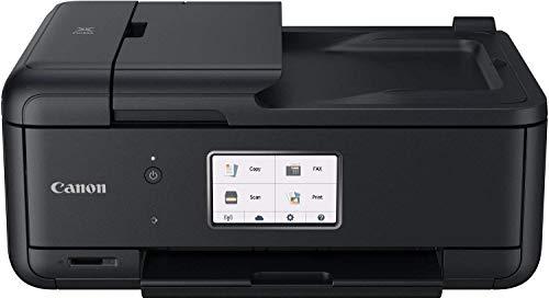 Canon PIXMA TR8550 Drucker Farbtintenstrahl Multifunktionsgerät All-in-One DIN A4 (Scanner, Kopierer, Fax, WLAN, LAN, ADF, Apple Airprint, Print App, 2 Papierzuführungen, Duplexdruck) schwarz