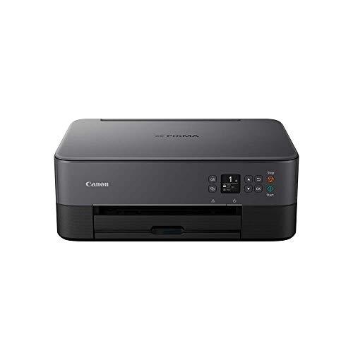 Canon PIXMA TS5350 Drucker Farbtintenstrahl Multifunktionsgerät DIN A4 (Scanner, Kopierer, OLED, 4.800 x 1.200 dpi, USB, WLAN, Duplexdruck, 2 Papierzuführungen) schwarz