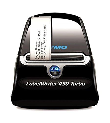 Dymo LabelWriter 450 Turbo Etikettendrucker (Professioneller thermischer Hochgeschwindigkeitsdrucker für Ihren PC/Mac)