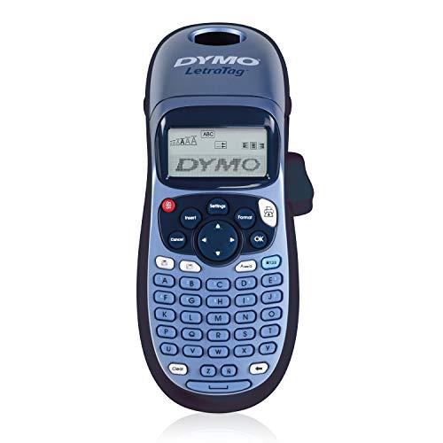 Dymo LetraTag LT-100H Beschriftungsgerät Handgerät   Tragbares Etikettendrucker mit ABC Tastatur   blau   Ideal fürs Büro oder zu Hause