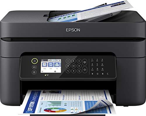 Epson WorkForce WF-2850DWF 4-in1-Tintenstrahl-Multifunktionsgerät, Drucker (Scannen, Kopieren, Fax, WiFi, ADF, Duplex, Einzelpatronen, DIN A4) Amazon Dash Replenishment, schwarz