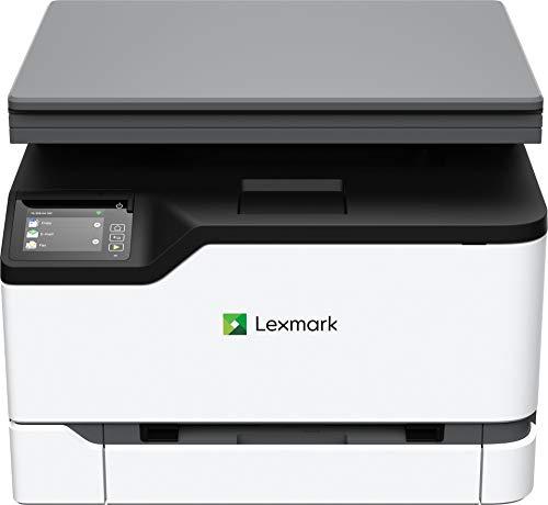 Lexmark MC3224DWE 3-in-1 Farblaser-Multifunktionsgerät (Drucker, Kopierer, Scanner, WLAN, LAN, bis zu 22 S./Min., autom. beidseitiger Druck, 7,2 cm-Touchscreen) schwarz/grau
