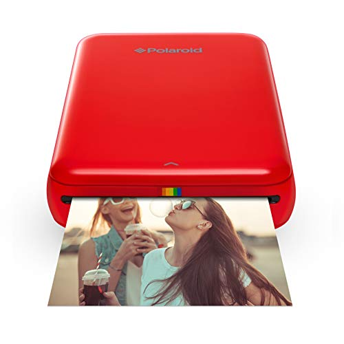 Polaroid ZIP Handydrucker mit ZINK Zero tintenfreier Drucktechnologie – Kompatibel mit iOS- & Androidgeräten - Rot